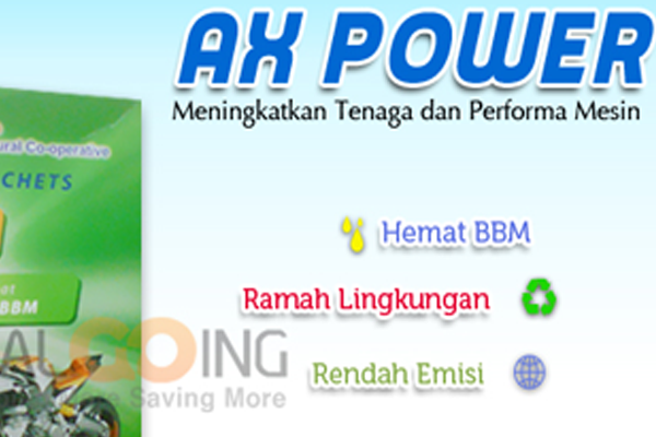 AX Power Perkecil Emisi Gas Buang