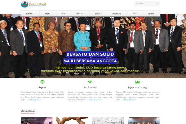 Launching website Induk KUD